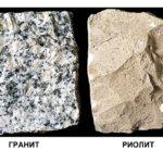 Как отличаются гранит и риолит ?