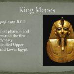 Когда родился король Менес?